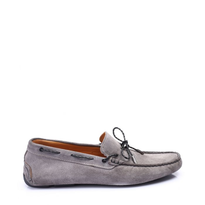 Image for Grey leather loafers