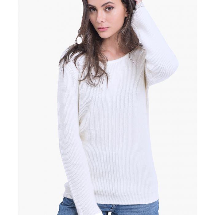 Image for Natural cashmere and silk blend jumper