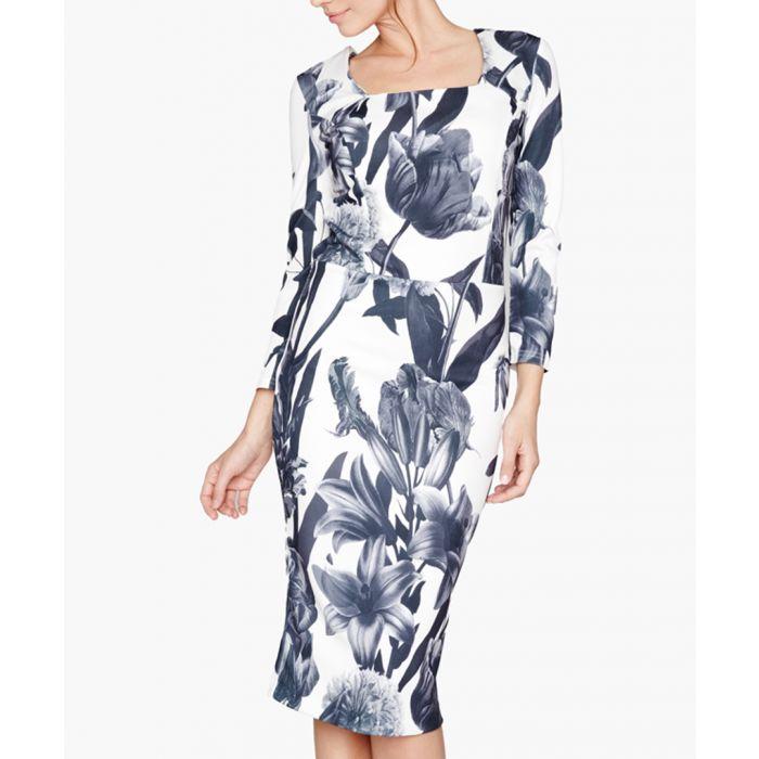 Image for Black, white knit dress