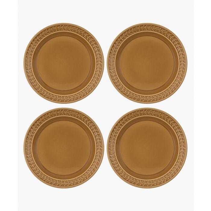 Image for 4pc Botanic Garden Harmony amber plate set