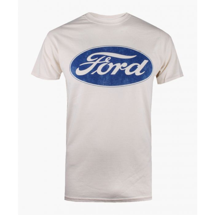 Image for Petrol Heads FORD - LOGO - MENS T - NATURAL