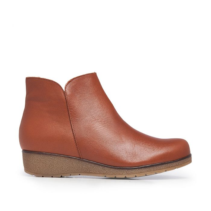 Image for Castellanisimos Leather Ankle Cuir Boot Women Winter Shoes