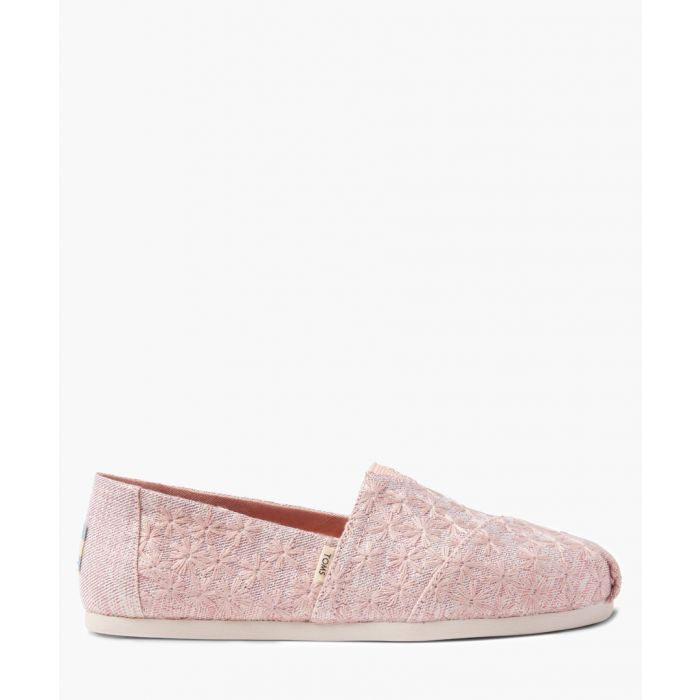 Image for Alpargata pink canvas shoes
