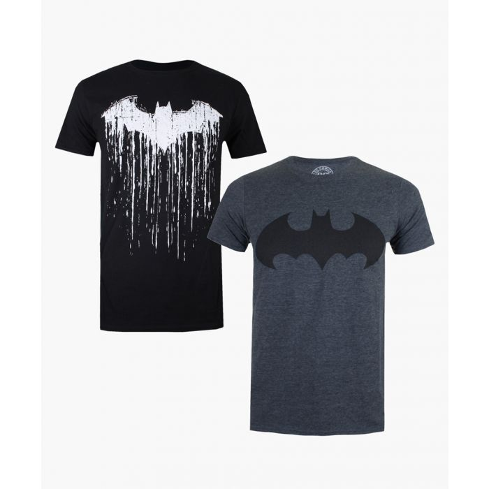 Image for 2pc Black and grey batman print cotton blend T-shirt set