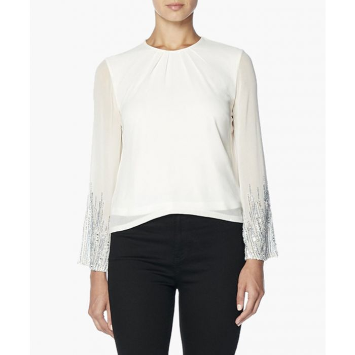 Image for White Bell Sleeve Top