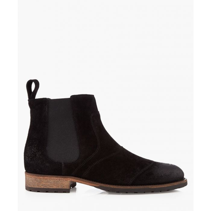 Image for Attwell black suede ankle boots