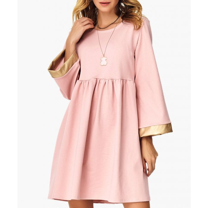 Image for Black and camel cotton blend dress