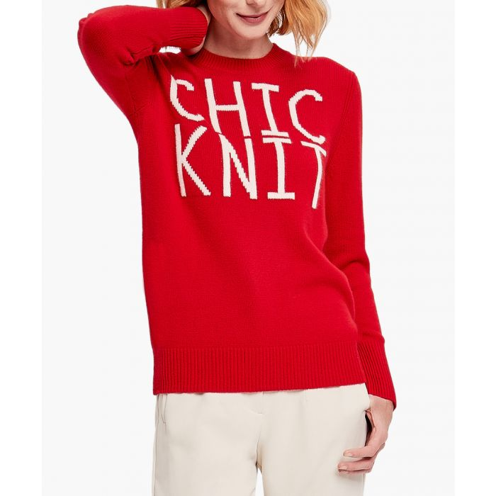 Image for Red pure cashmere Chic Knit jumper