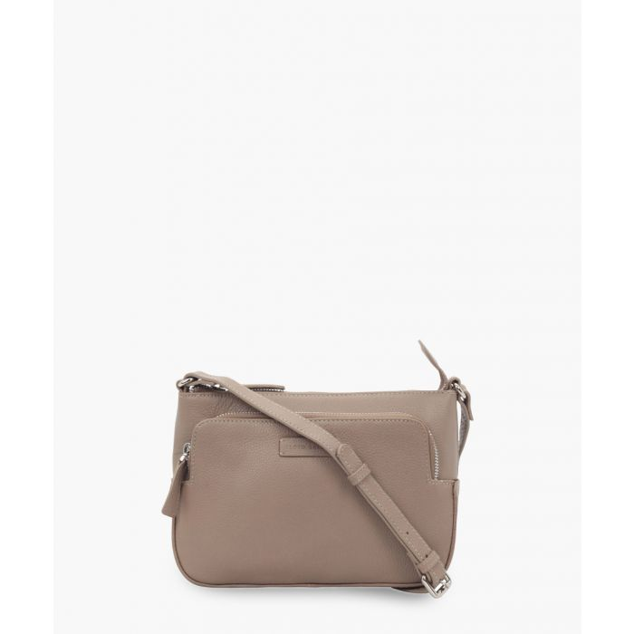 Image for Taupe brown leather crossbody