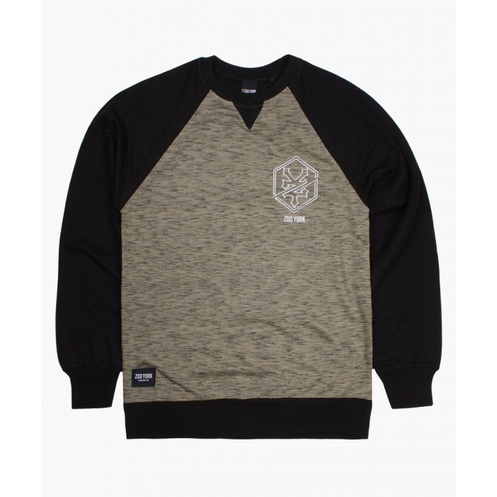 Image for Khaki and black crew sweater