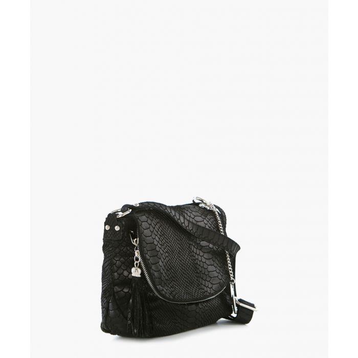 Image for Elena black leather backpack