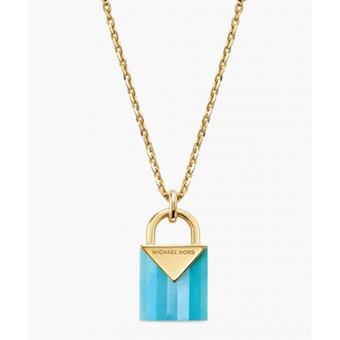 Image for Gold-plated and blue necklace