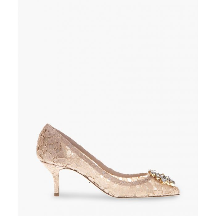Image for Belluci nude Taormina lace and crystal pumps