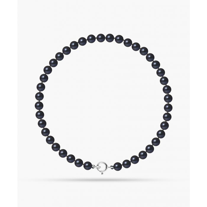 Image for Gold-plated and black freshwater pearl round bracelet