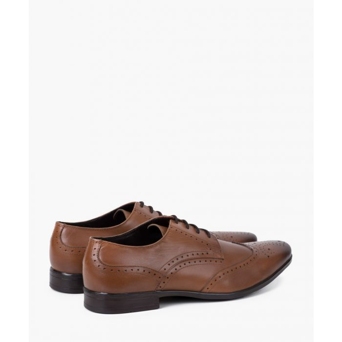 Image for Tan leather Derby brogues