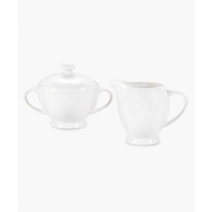 Image for Serendipity plain white bone china sugar and cream