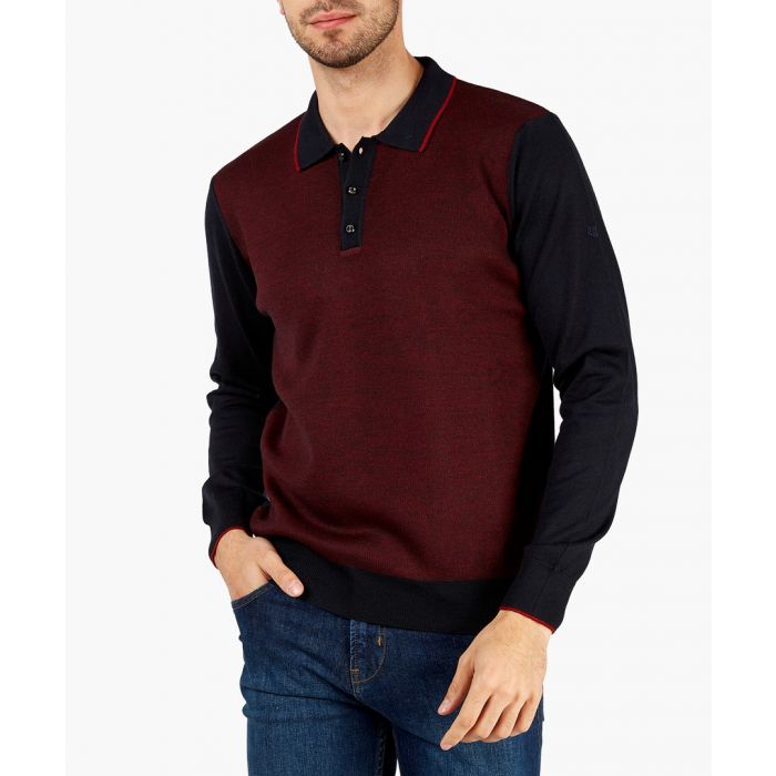 Image for Navy and red sweater