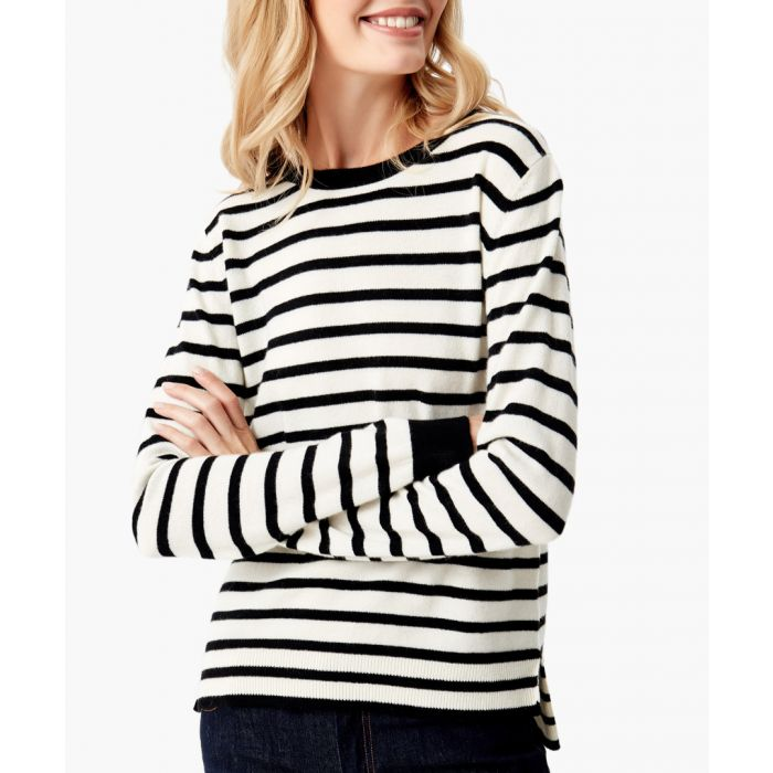 Image for Black and white pure cashmere jumper