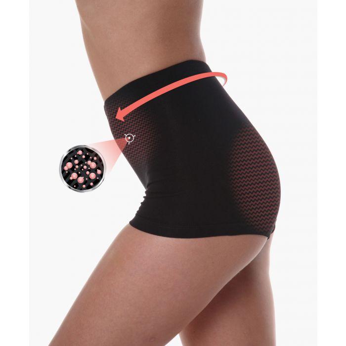 Image for Black cotton blend boxers