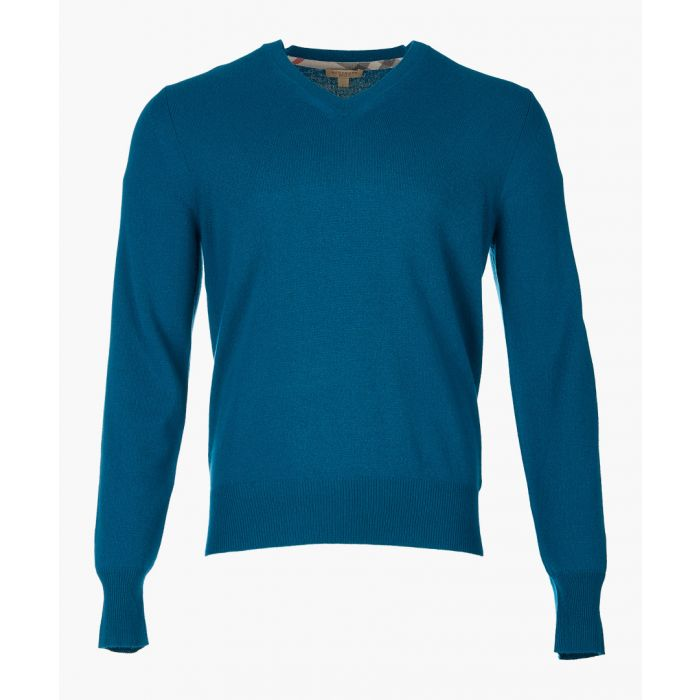 Image for blue pure cashmere jumper