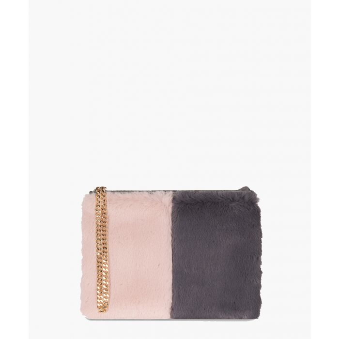 Image for Stephanie The Kempton Collection pink and dark grey clutch