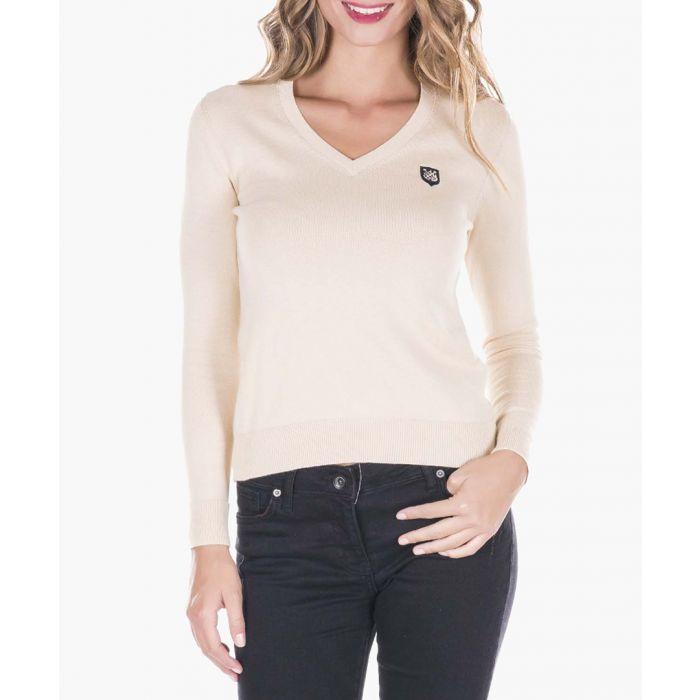Image for Beige cotton jumper
