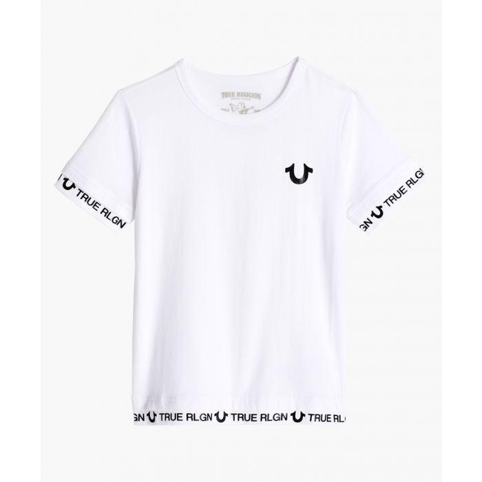 Image for Boys white logo print T-shirt