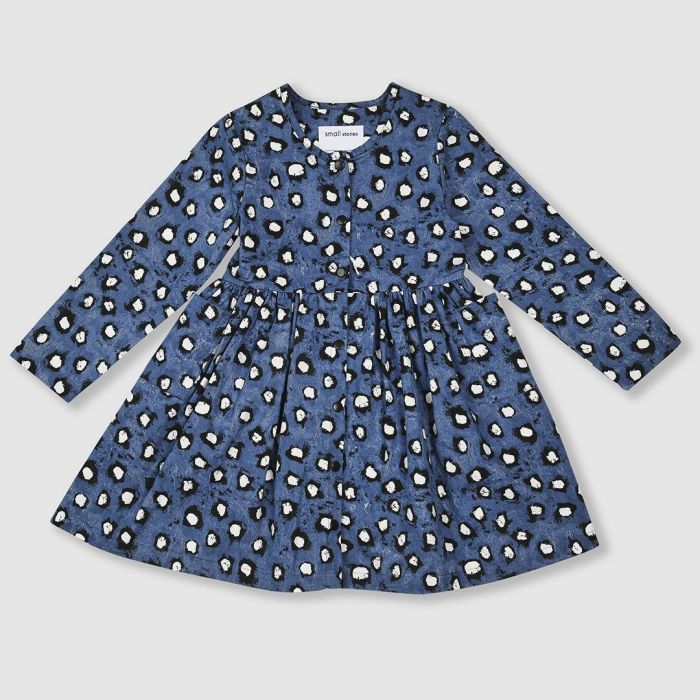Image for Painted Dot Woven Dress
