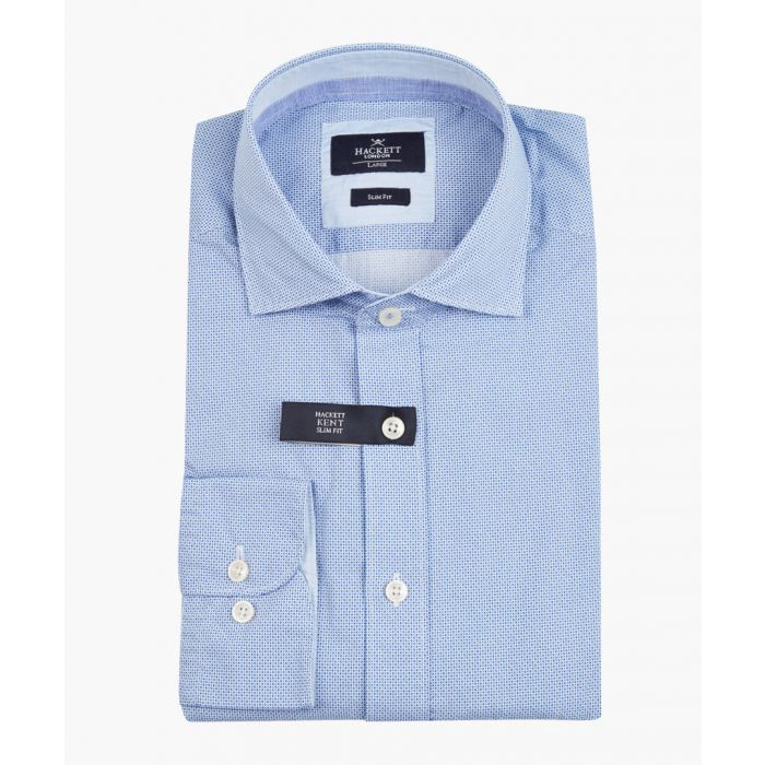 Image for Blue and white button-up shirt