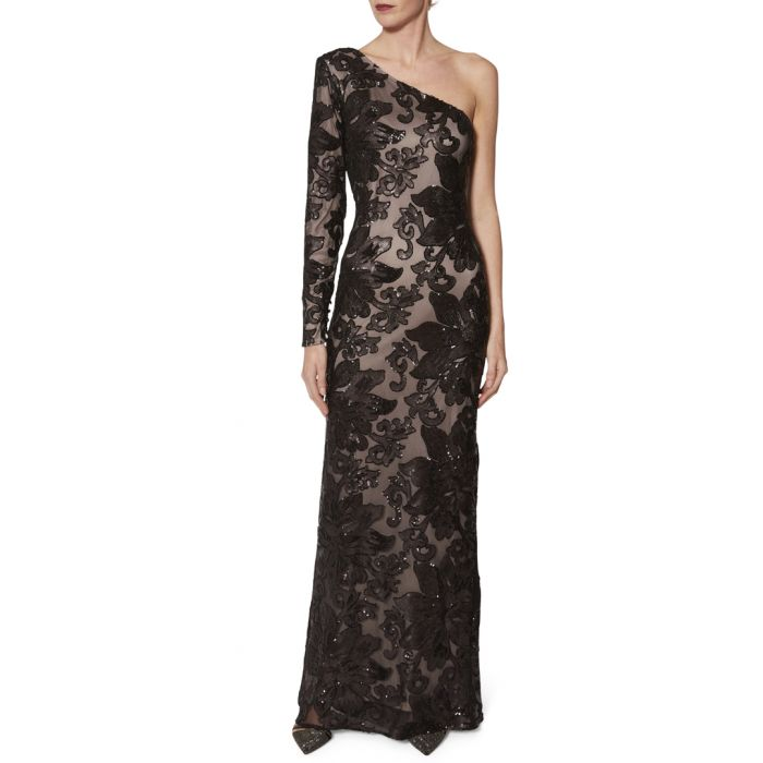 Image for Contessa black and beige lace maxi dress