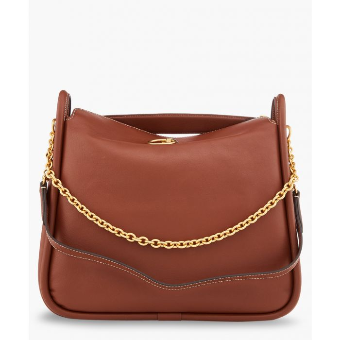Image for Leighton brown leather shoulder bag