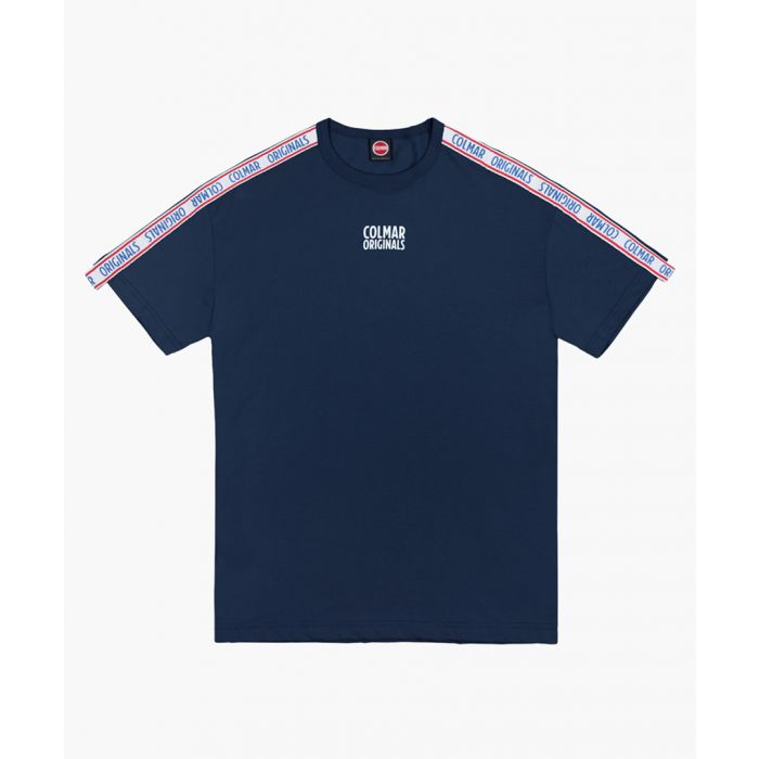 Image for Navy pure cotton printed T-shirt