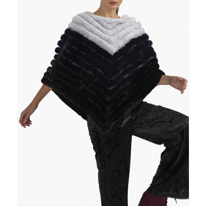 Image for Monochrome faux fur poncho