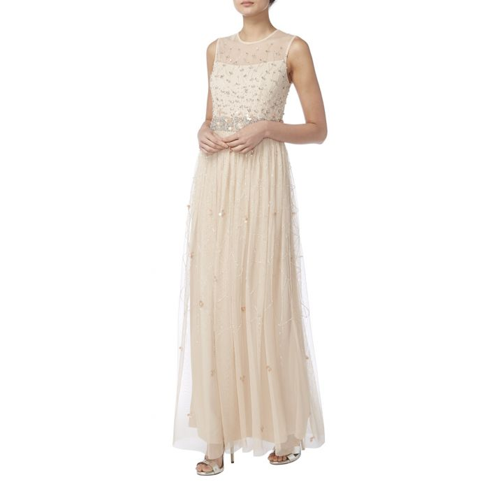 Image for pale pink sheer layer maxi dress