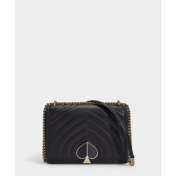 Image for Amelia medium black leather shoulder bag