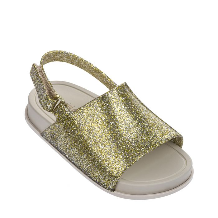 Image for Girls' Mini Beach gold glitter sandals