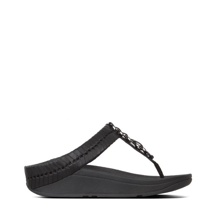 Image for Cirque black leather sandals