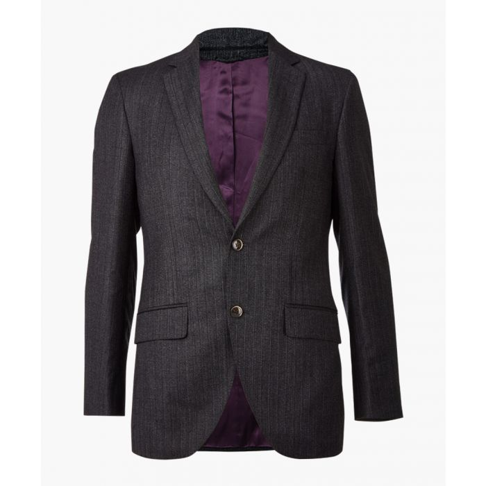 Image for Charcoal pure wool tweed blazer