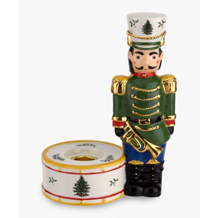 Image for Green nutcracker candle holder