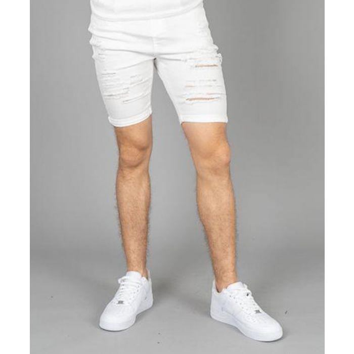 Image for Camden white ripped denim shorts