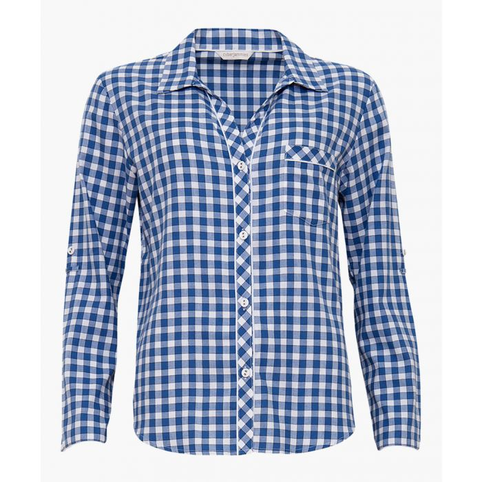 Image for Blue pure cotton pyjama shirt