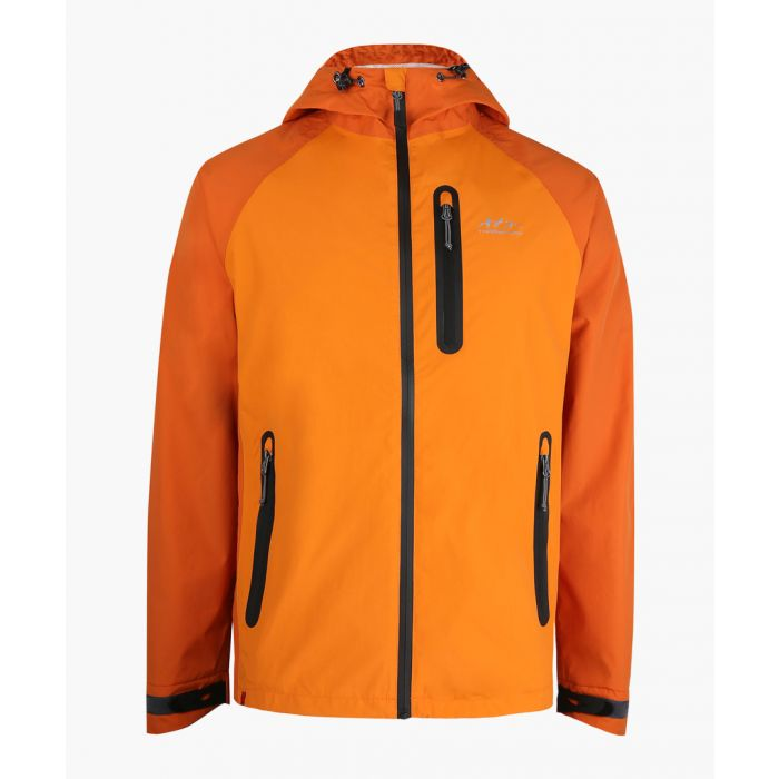 Image for Orange breathable waterproof jacket