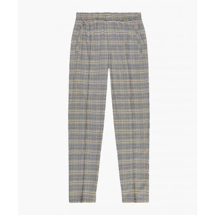 Image for Harrington grey check slim trousers