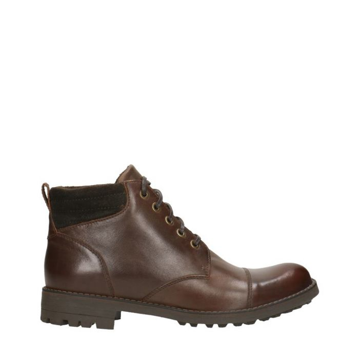 Image for Dark brown leather ankle boots