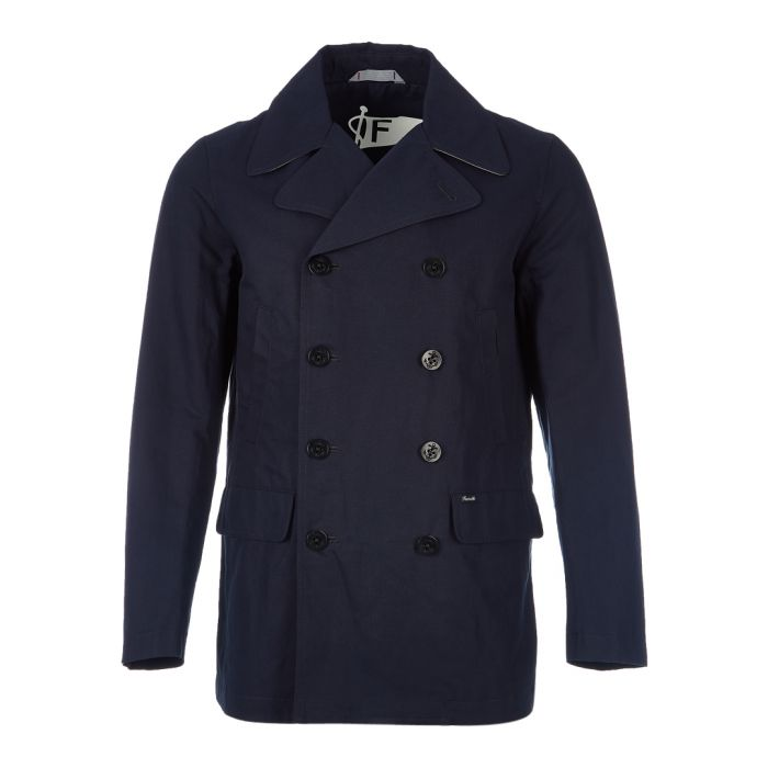 Image for Antibes navy button-up jacket