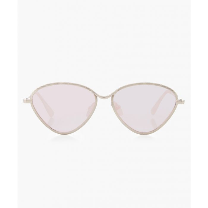 Image for Bazaar silver-tone triangle Sunglasses