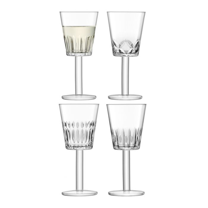 Image for 4pc Assorted-cuts wine glass set