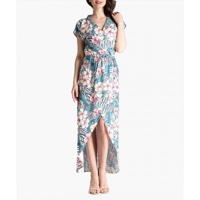 Image for Floral hi-low maxi dress
