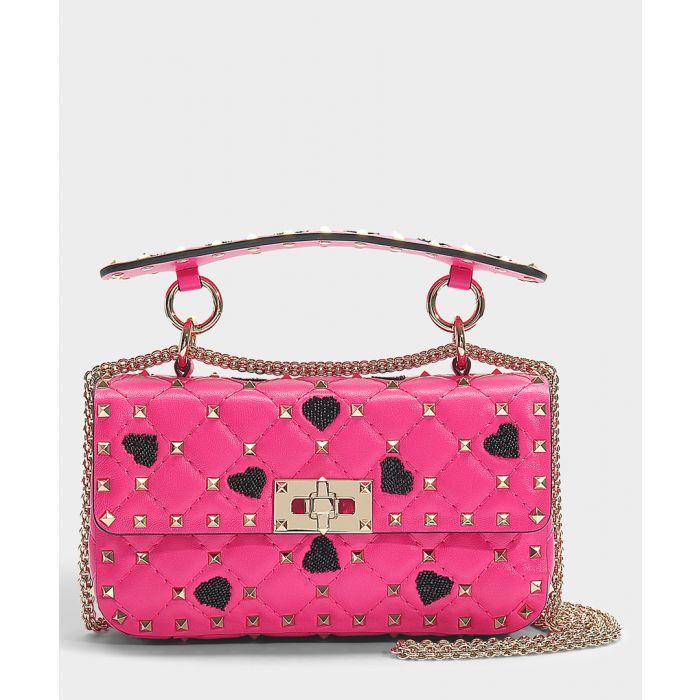 Image for Hearts Rockstud Spike pink shoulder bag
