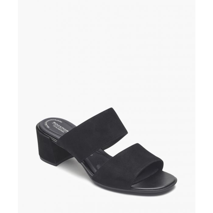 Image for Alaina black double strap sandals